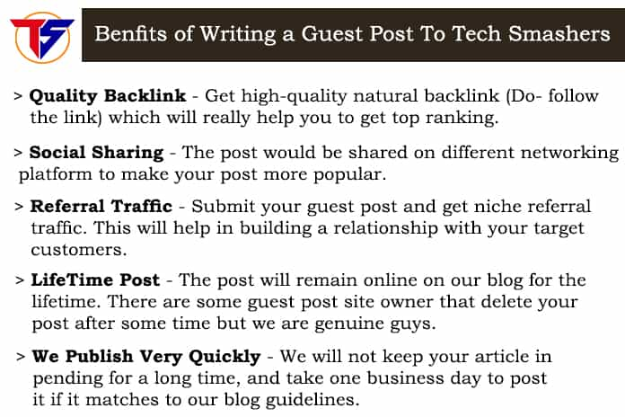 Benefits of writing to Tech Smashers