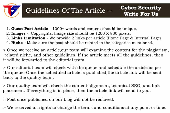 cyber security - Guidelines for techsmashers