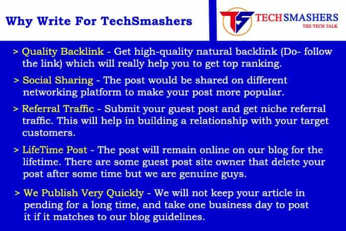 Why write for - techsmashers