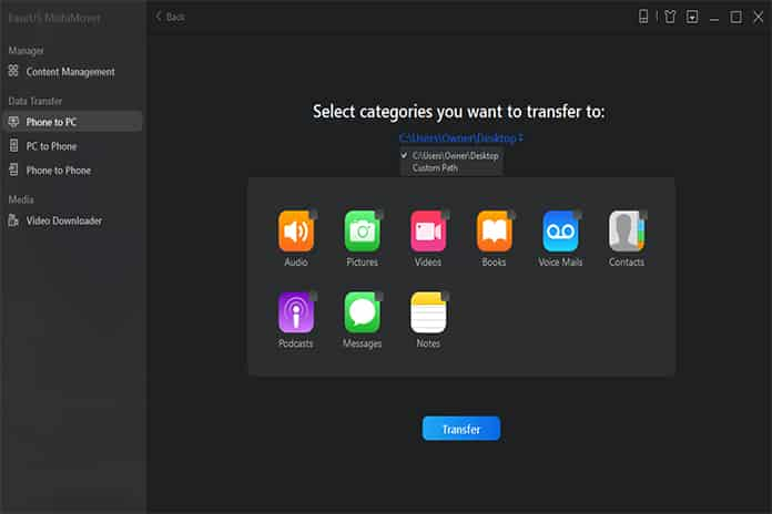 choose the files on your iPhone or iPad